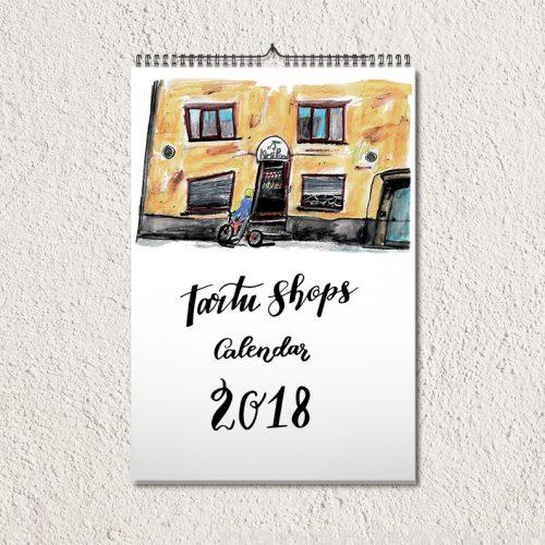 Tartu Shops Calendar's layout